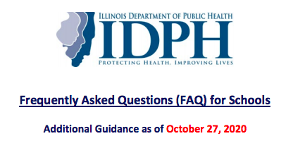 Updated IDPH FAQ