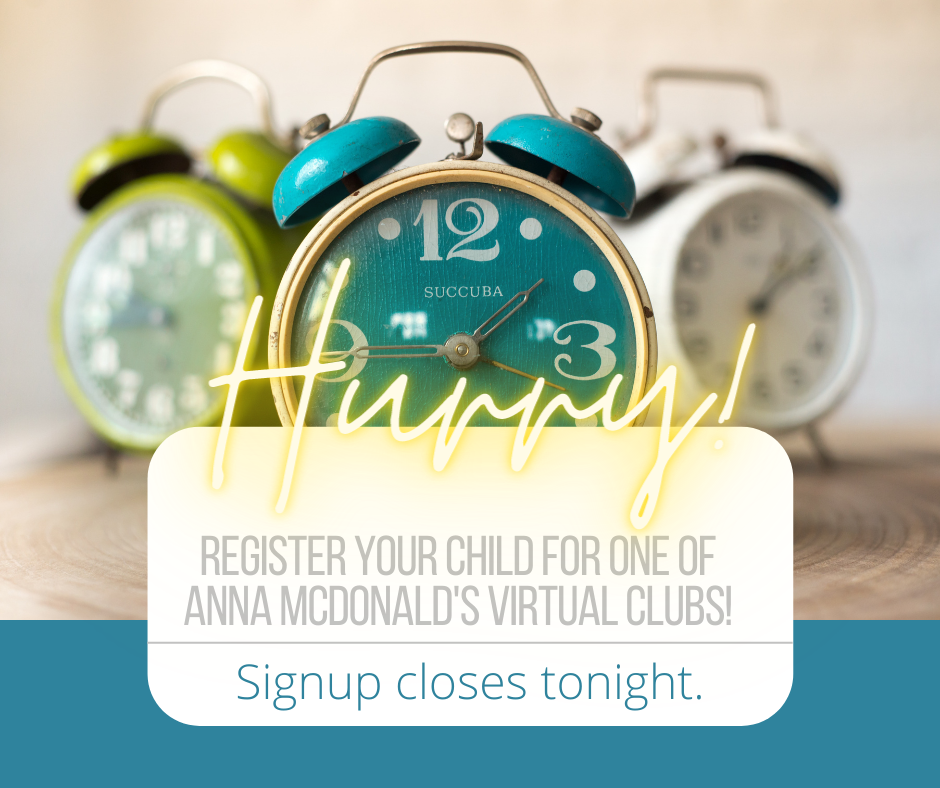 Anna McDonald Virtual Clubs
